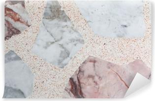 Papier peint vinyle Sol en marbre motif texture terrazzo, pierre polie