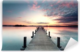 Papier Peint Vinyle Sommermorgen mit Sonnenaufgang