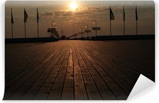 Papier peint vinyle Sopot molo Wschód słońca
