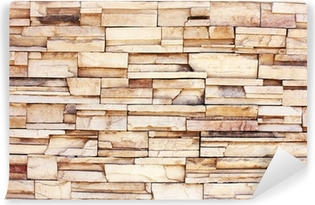 Papier peint vinyle Stacked mur de pierre
