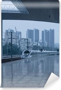 Papier peint vinyle Station de train à grande vitesse