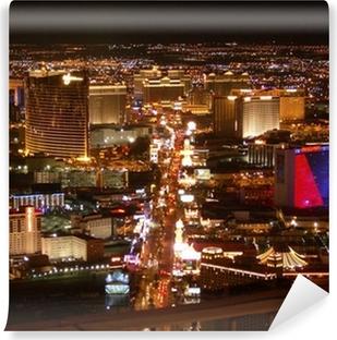 Papier peint vinyle Strip de Las Vegas la nuit