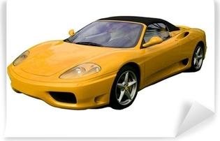 Papier peint vinyle Supercar décapotable jaune