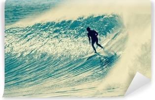 Papier peint vinyle Surf Surfer Riding Vague