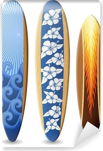 Papier peint vinyle Surfboards bois