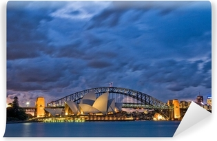 Papier Peint Vinyle Sydney Harbour Crépuscule