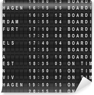 Papier peint vinyle Tableau des départs