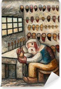 Papier peint vinyle Tadeusz Makowski - Le sabotier