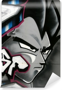 Papier peint vinyle Tag de personnage en couleur