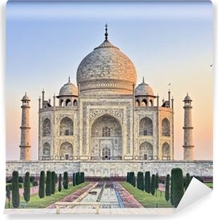 Papier Peint Vinyle Taj Mahal banc au lever du soleil