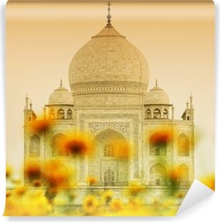 Papier Peint Vinyle Taj Mahal en lumière du soleil couchant, Agra, Uttar Pradesh, en Inde