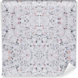 Papier peint vinyle Terrazzo plancher texture ancienne ou modèle de pierre polie design sans soudure pour le fond et la couleur belle