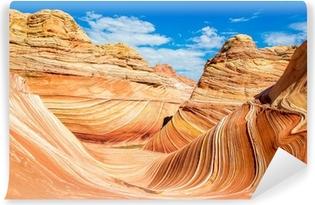 Papier peint vinyle The Wave, Arizona désert rocheux
