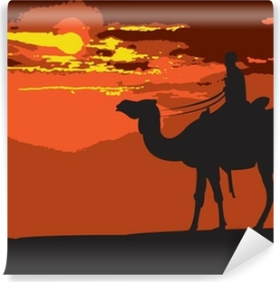 Papier peint vinyle Through-the Desert-