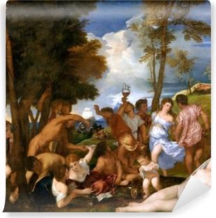 Papier peint vinyle Titien - Arrivée de Bacchus sur l'île d'Andros