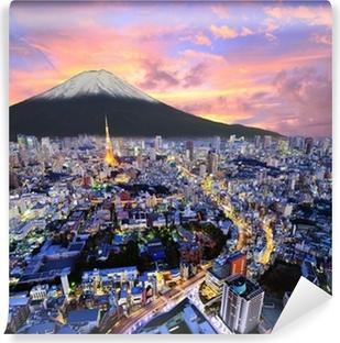 Papier peint vinyle Tokyo et Fuji