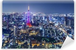 Papier peint vinyle Tokyo, Japon City Skyline