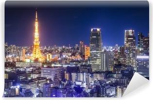 Papier peint vinyle Tokyo, Japon Skyline