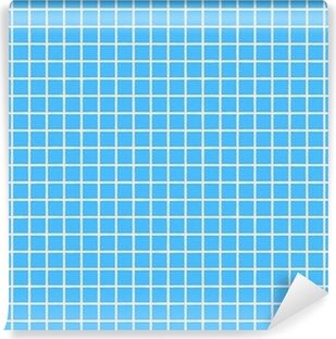Papier peint vinyle Tuile lumière fliesen de hellblau bleu