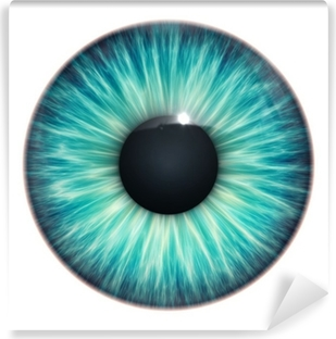 Papier peint vinyle Turquoise texture des yeux