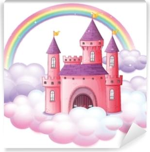 Papier peint vinyle Un château de conte de fées rose