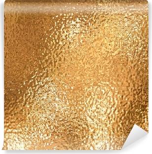 Papier peint vinyle Une très grande feuille de beau papier d'aluminium froissé or