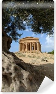 Papier peint vinyle Valle dei Templi d'Agrigente, sicile, italie
