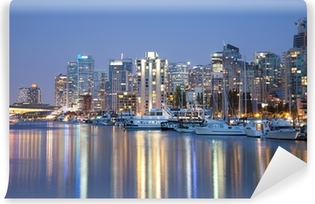 Papier peint vinyle Vancouver skyline at night