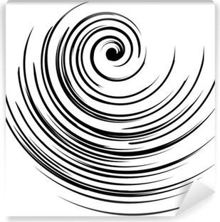 Papier peint vinyle Vecteur d'image d'une spirale en noir et blanc