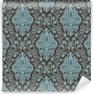 Papier peint vinyle Vecteur damassé sans soudure de fond. ornement damassé démodé de luxe classique, texture transparente victorienne royale pour fonds d'écran, textile, emballage. exquis modèle baroque floral