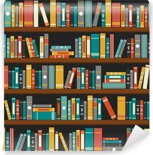 Papier peint vinyle Vecteur de livres de bibliothèque étagère fond