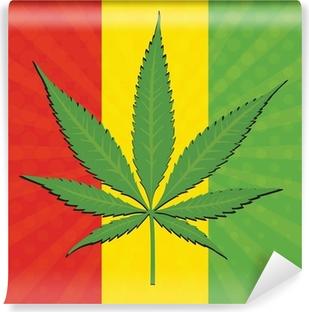 Papier peint vinyle Vector feuille de cannabis