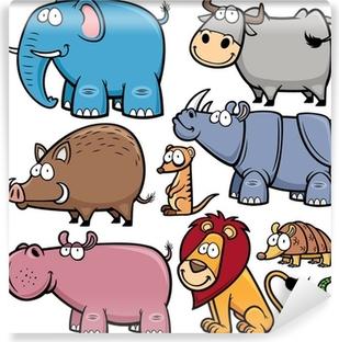 Papier peint vinyle Vector illustration d'animaux sauvages dessins animés