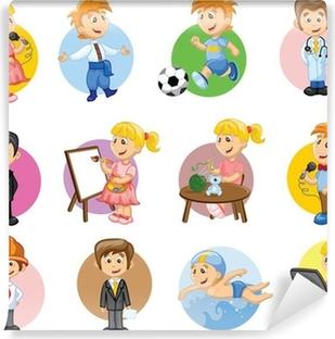 Papier peint vinyle Vector illustration de personnes de différents métiers