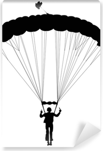Papier peint vinyle Vector parachutiste silhouette