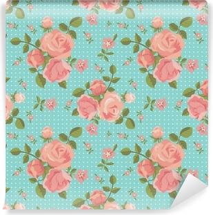Papier Peint Vinyle Vector seamless pattern de roses épanouies