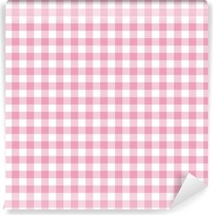 Papier peint vinyle Vichy rose Toile de fond