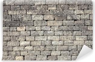 Poster Vieux Gris Fonce Mur De Briques De La Texture De Fond