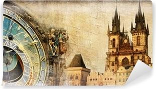 Papier peint vinyle Vieux Prague - artistique carte vintage