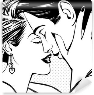 Papier peint vinyle Vintage couple dans l'amour