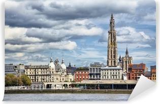 Papier peint vinyle Voir sur le centre d'Anvers