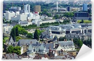 Papier peint vinyle Vue aérienne de Nantes