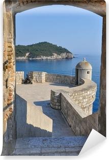 Papier peint vinyle Vue de Dubrovnik murs de la ville