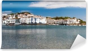 Papier peint vinyle Vue panoramique de la plage de Cadaques et la côte