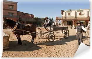 Papier peint vinyle Western Town Film fixé à Mini Hollywood Espagne