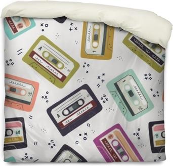 Påslakan Handgjord kassettband sömlöst mönster