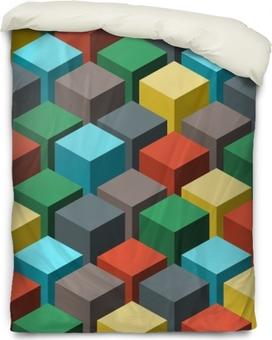 Påslakan Sömlöst geometriskt abstrakt mönster. vektor illustration.