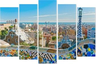 Pentáptico Park Guell in Barcelona, Spain.