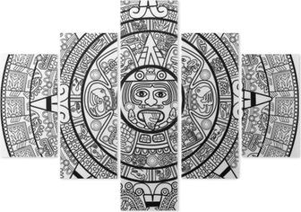 Calendario Azteca Vectores.Vector Calendario Maya