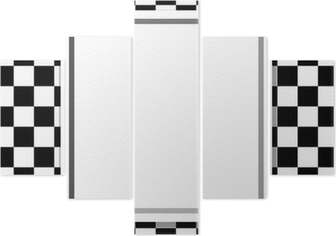Black And White Checkered Frame With Frame Background Wall Mural